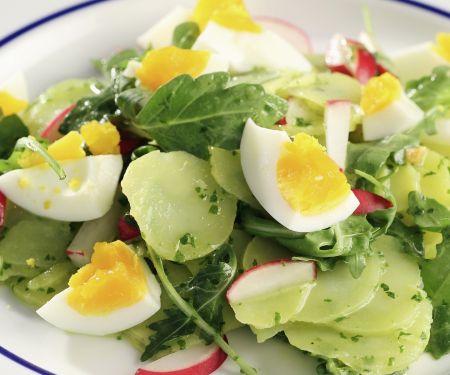 Kartoffel-Rucola-Salat mit Eiern