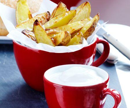 Kartoffelecken mit Sauerrahm