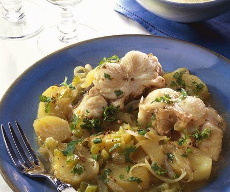 Kartoffeleintopf mit Aal