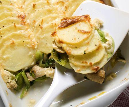 Kartoffelgratin mit Lauch
