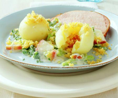 Kartoffelklöße mit Meerrettich