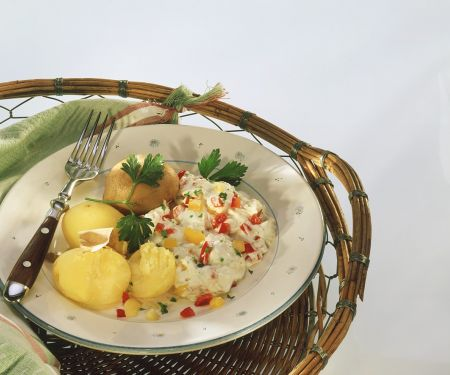 Kartoffeln mit Paprika-Quark