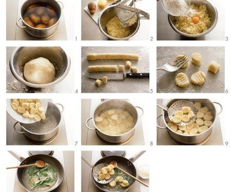 Kartoffelnocken mit Salbeibutter