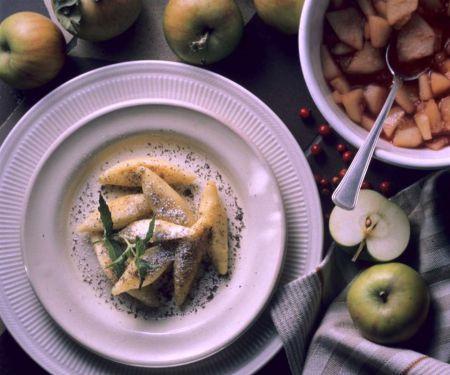 Kartoffelnudeln mit Mohn