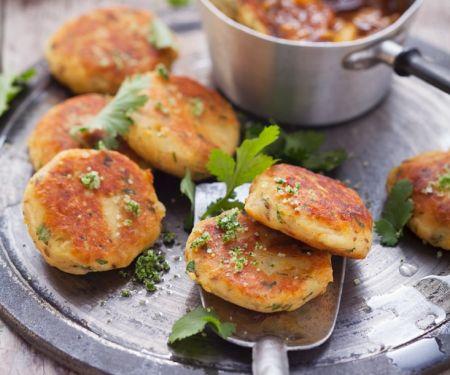 Kartoffelplätzchen mit Kräutersalz