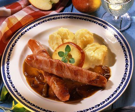 Kartoffelpüree mit Würstchen