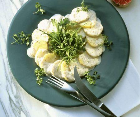 Kartoffelsalat mit Topinambur