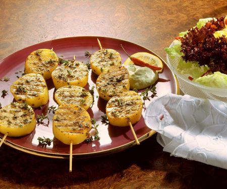 Kartoffelspieße vom Grill