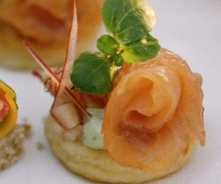 Kartoffeltaler mit Lachs