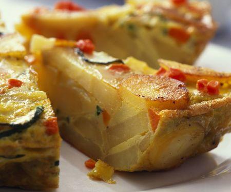 Kartoffeltortilla mit Gemüse