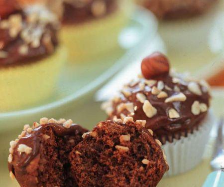 Kleine Muffins mit Nusscreme