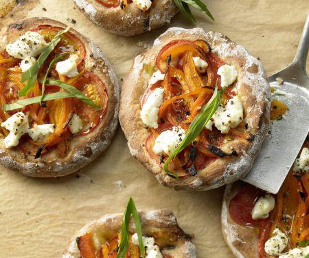 Kleine Paprika-Pizzen