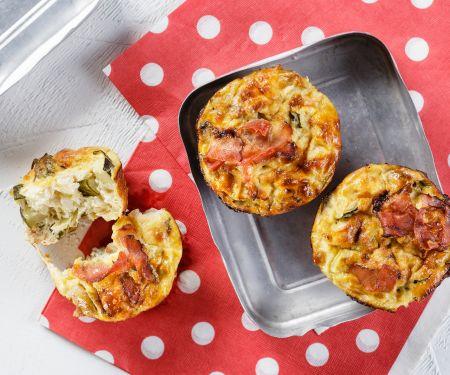 Kleine Pilz-Zucchini-Quiches
