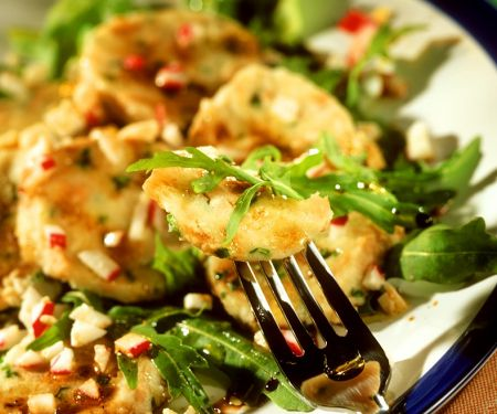 Knödel-Rucola-Salat