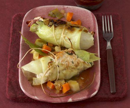 Kohlroulade mit Kartoffelpüree