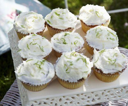 Kokos-Cupcakes mit Limette