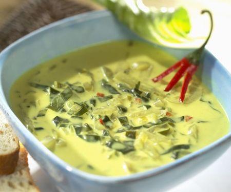 Kokos-Mangoldsuppe