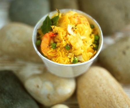 Kokos-Reis mit Garnelen