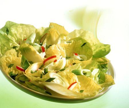 Kopfsalat mit Radieschen