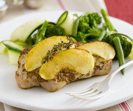 Koteletts mit Senf und Ei
