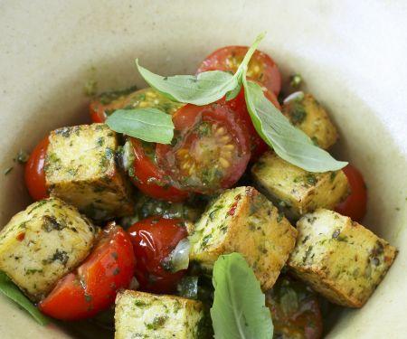 Kräuter-Tofu mit Tomaten