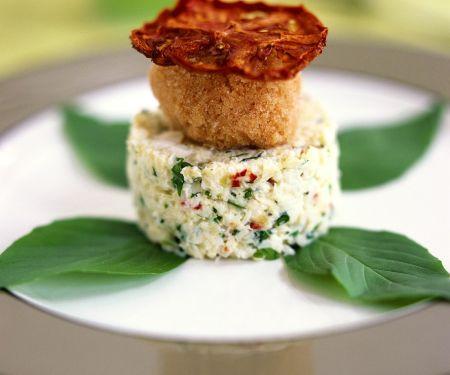 Krebsfleisch-Salat mit Tomatensorbet