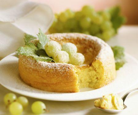 Kuchen mit Weintrauben