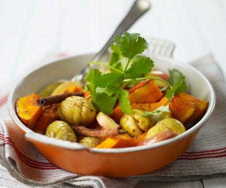 Kürbis-Kastanien-Gemüse