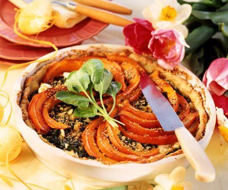 Kürbis-Spinat-Kuchen