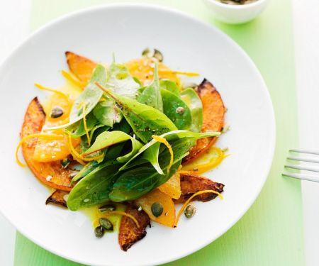 Kürbis-Spinat-Salat