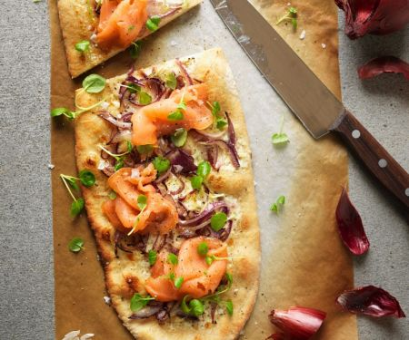Lachs-Pizza