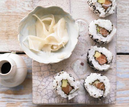 Lachs-Sushi
