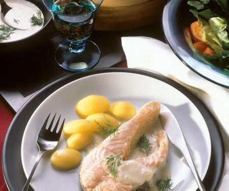 Lachskotelett mit Buttersauce