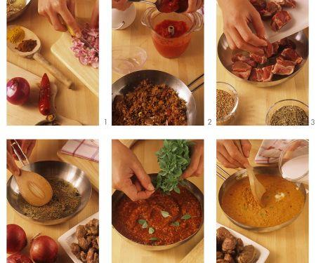Lamm-Curry zubereiten