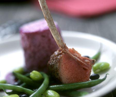 Lamm mit Souffle und Bohnen