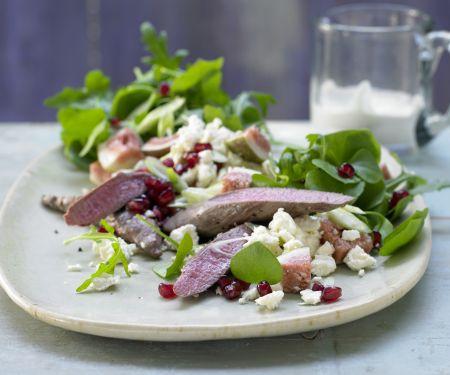 Lammfilet auf Portulak-Rucola-Salat