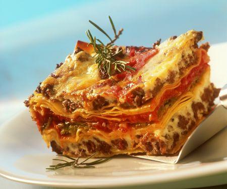 Lasagne mit Lamm und Chinakohl