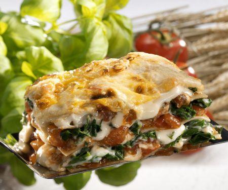 Lasagne mit Spinat und Tomaten