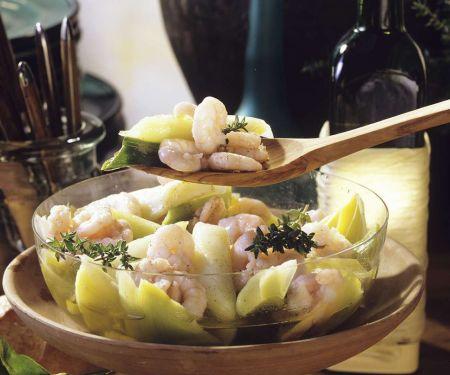 Lauch-Shrimpssalat