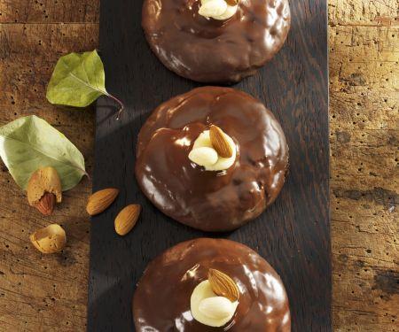 Lebkuchen mit Marzipan-Schoko-Glasur
