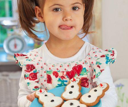 Lebkuchen-Schneemänner