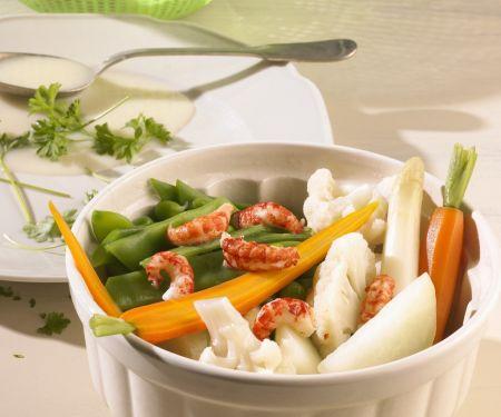 Leipziger Allerlei mit Shrimps
