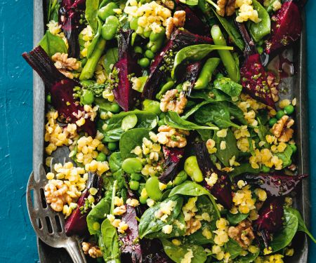 Linsen-Bohnen-Salat mit Roter Bete