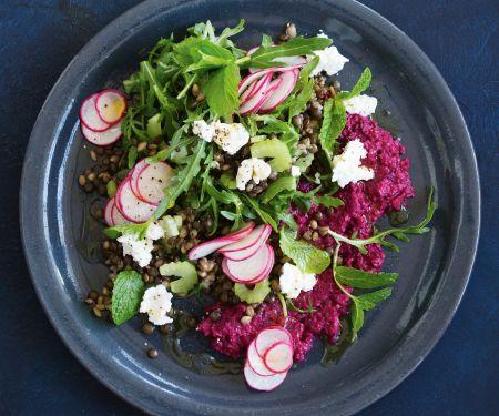 Linsen-Graupen-Salat