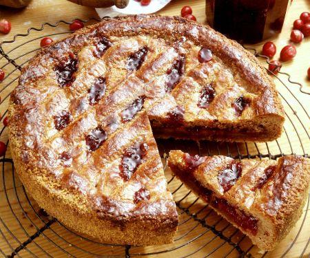 Linzer Torte mit Cranberries