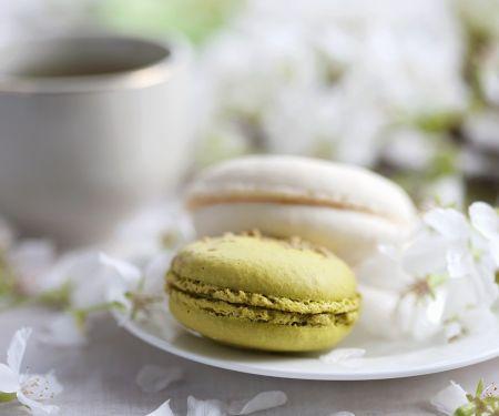 Macarons mit Grüntee