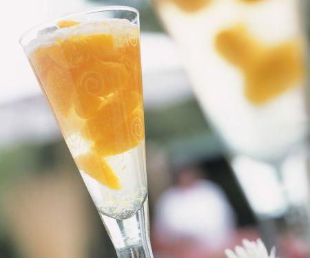 Mandarinen-Sekt-Cocktail
