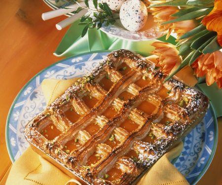 Mandel-Marzipankuchen mit Aprikosen
