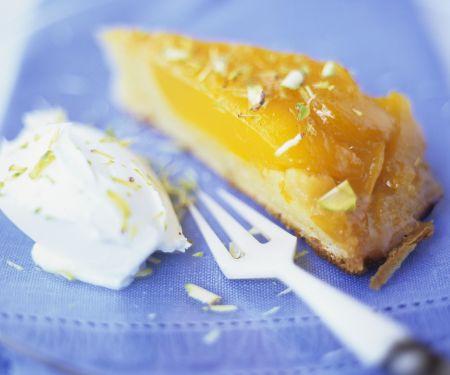 Mango-Karamell-Kuchen
