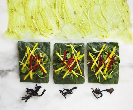 Mangold-Gemüsewraps